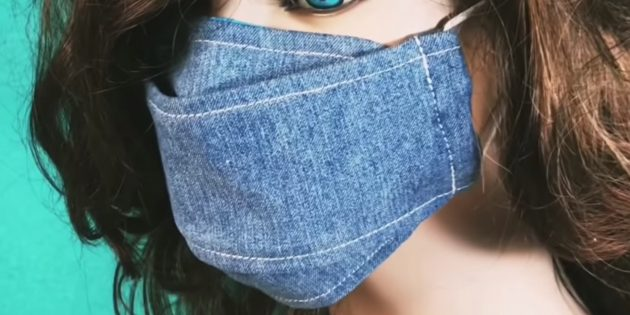 How to stitch a fold-out medical mask with a filter hole and flexible insert