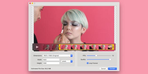 Gifski — бесплатный конвертер видео в GIF для Mac