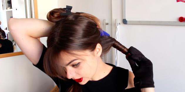 Причёски с чёлкой: накрутите волосы на плойку