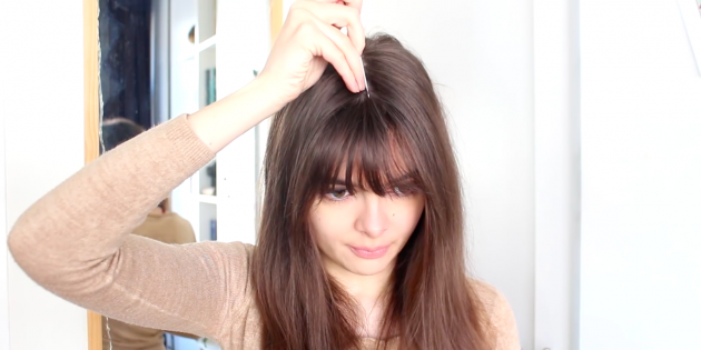 Причёски с чёлкой: сделайте ровный пробор