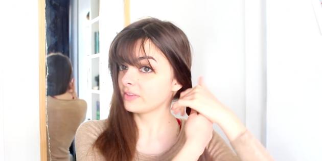 Женские причёски с чёлкой: разделите волосы