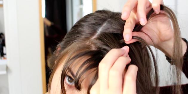Причёски с чёлкой: заплетите голландскую косу