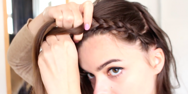 Женские причёски с чёлкой: начните заплетать косичку