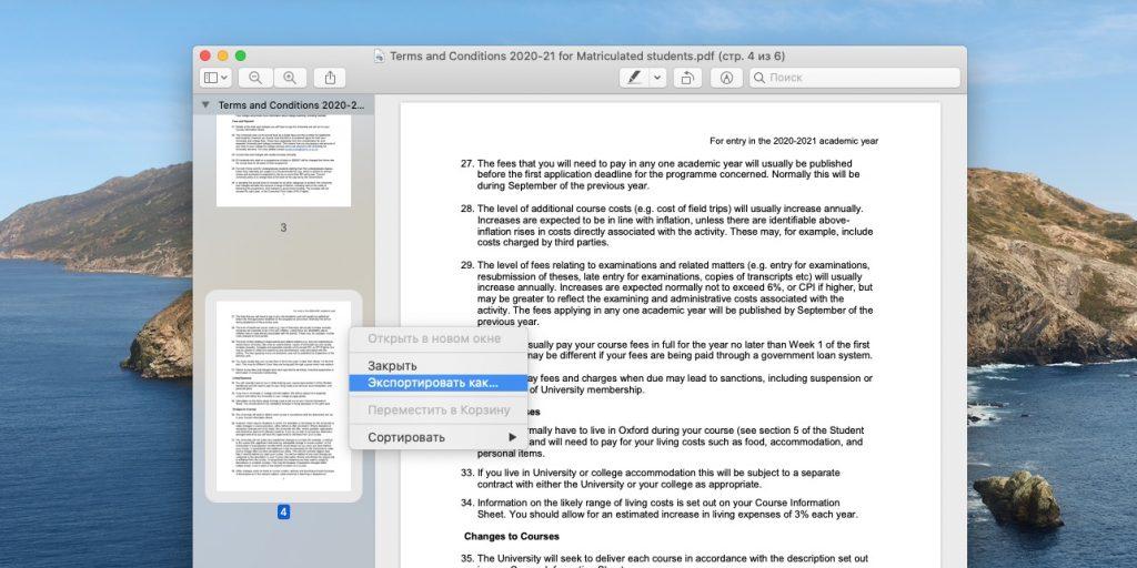 Сохранение отдельных страниц или кадров