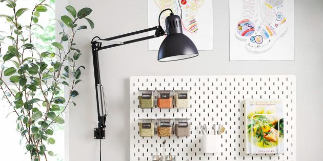 Как обустроить домашний офис: используйте светильники на струбцине