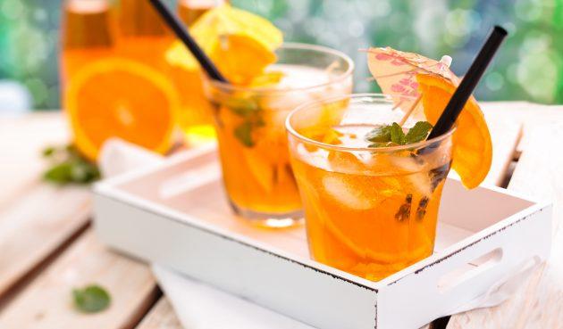 Безалкогольный мохито с грейпфрутом, апельсином и мёдом