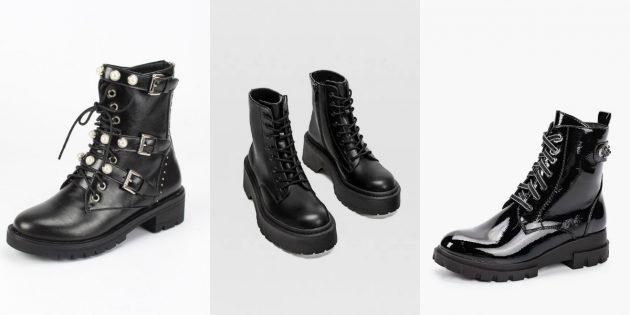 Модная женская обувь весны 2020 года: Брутальные армейские ботинки
