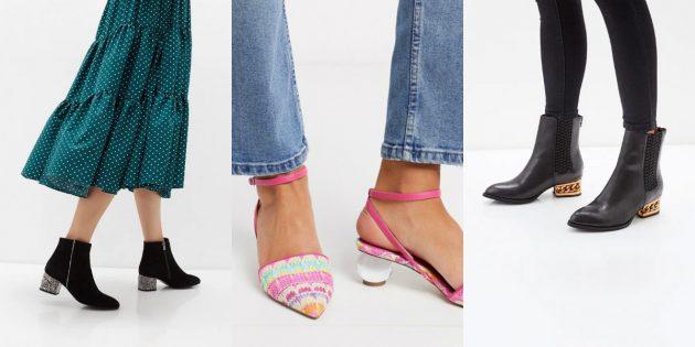 Модная женская обувь весны-лета 2020 года: Обувь с необычным каблучком
