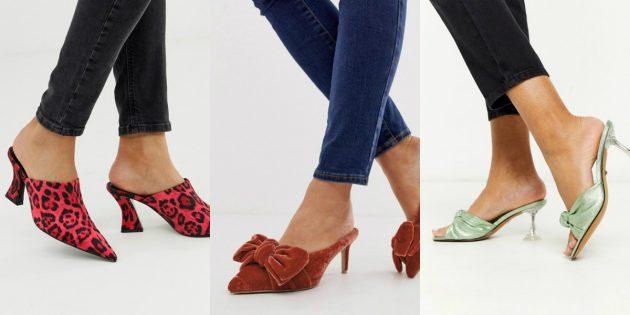 Модная женская обувь весны-лета 2020 года: Милые мюли