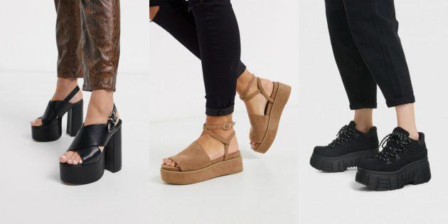 Модная женская обувь 2020 года на высокой платформе