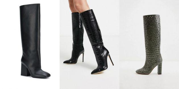 Модная женская обувь весны 2020 года: Сапоги с прямым голенищем