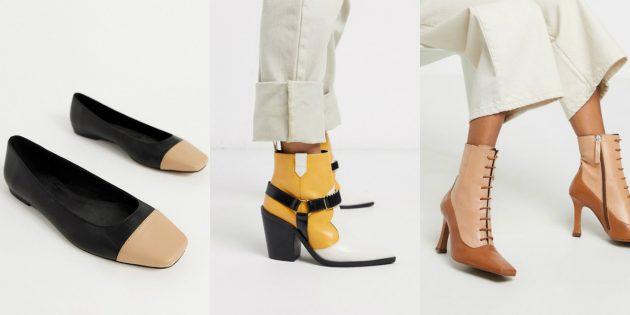 Модная женская обувь весны-лета 2020 года богата цветовыми контрастами