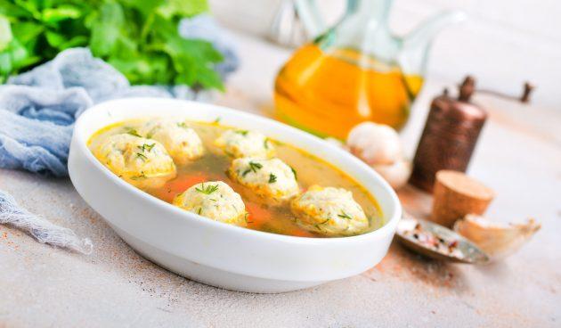 Грибной суп с картофельными клёцками