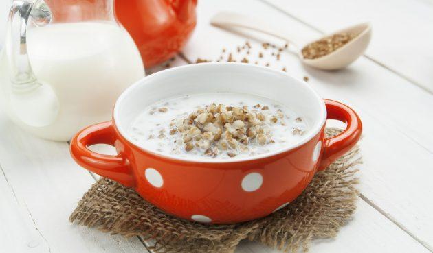 Гречневая каша с молоком