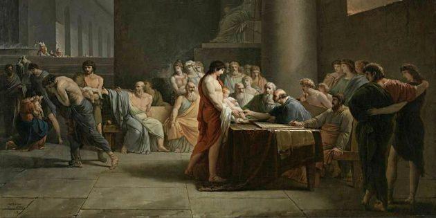 Исторические мифы: спартанцы сбрасывали детей со скалы
