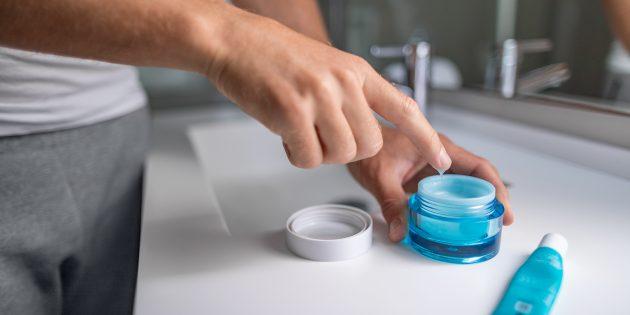 как мужчине ухаживать за собой: использовать крем для лица и тела