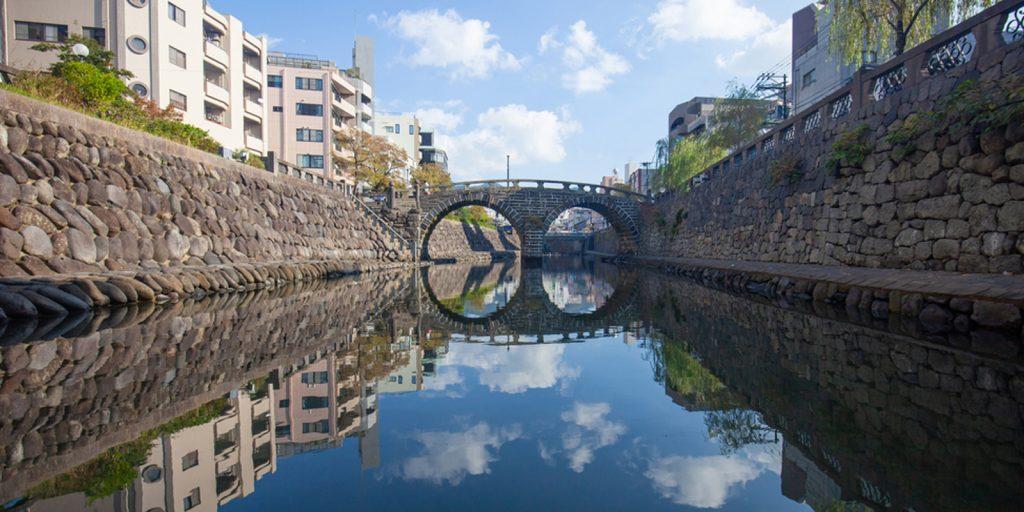 Мост Меганэ-баси в Нагасаки