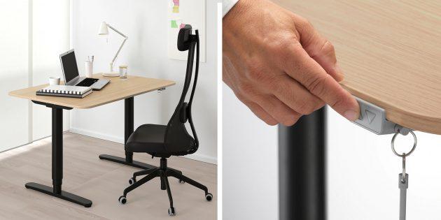 Регулируемый стол IKEA «Бекант»
