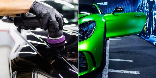 Химчистка или полировка автомобиля