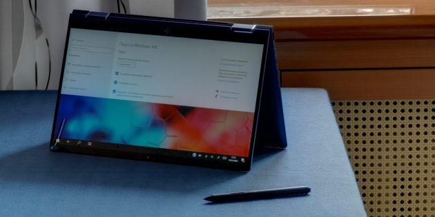 Ноутбук HP Elite Dragonfly можно использовать как графический планшет