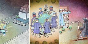 15 вдохновляющих иллюстраций о нелёгкой борьбе медиков против коронавируса