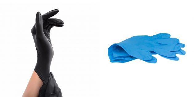Чем закупиться во время самоизоляции: Одноразовые перчатки