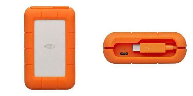 Лучшие внешние жёсткие диски: LaCie 4TB Rugged Thunderbolt USB-C (STFS4000800)