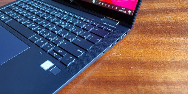 Ноутбук HP Elite Dragonfly: сканер отпечатков пальцев