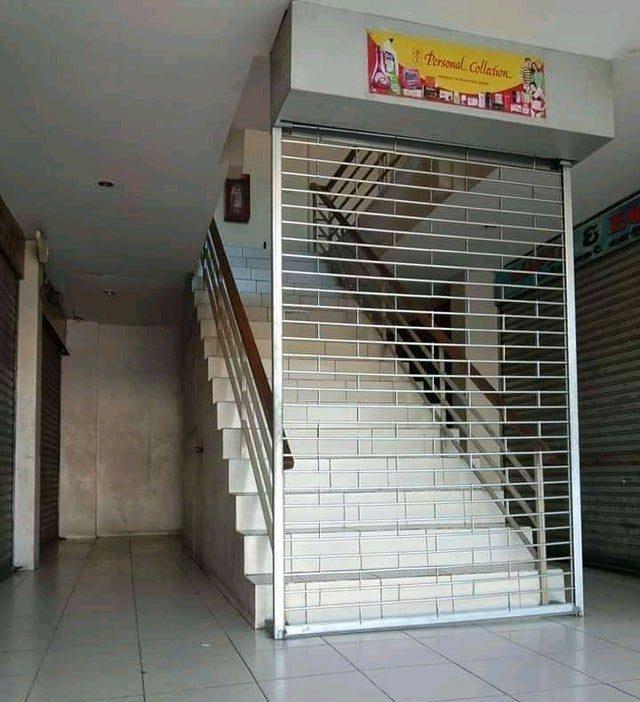 решетка на лестнице