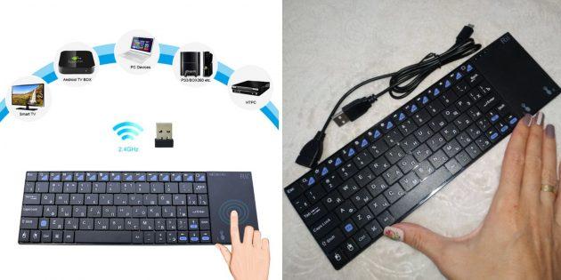 Быстрая доставка AliExpress: беспроводная клавиатура с тачпадом