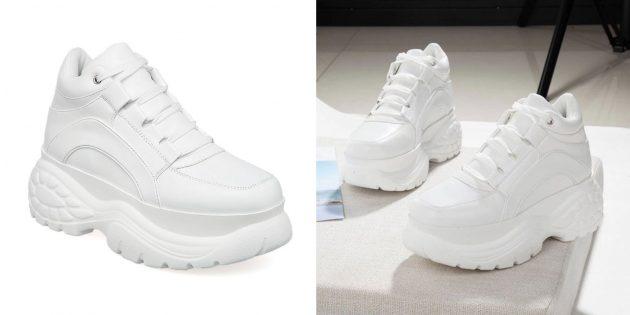 «Уродливые» белые кроссовки