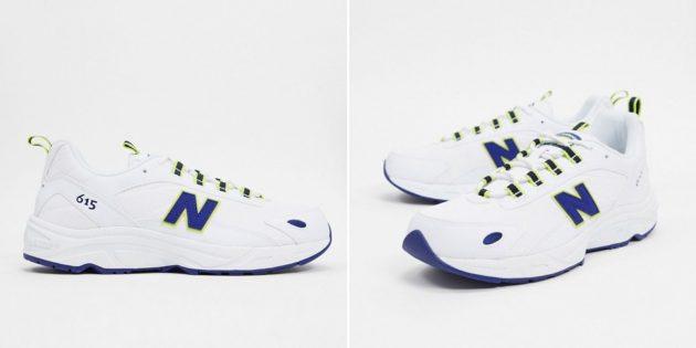 белые кроссовки: New Balance 615