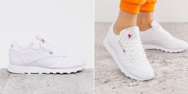 белые кроссовки: Reebok Classic