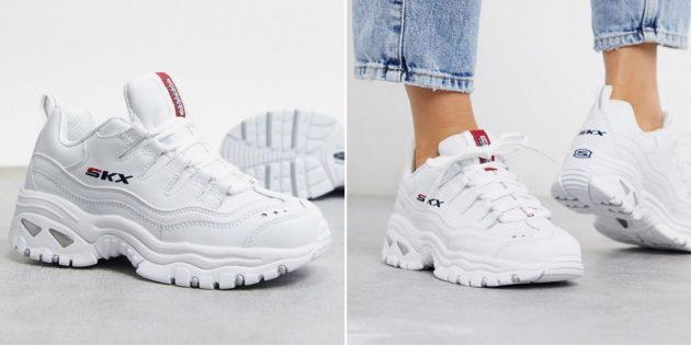 белые кроссовки: Skechers Energy