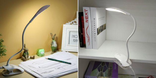 Настольная лампа с держателем-прищепкой