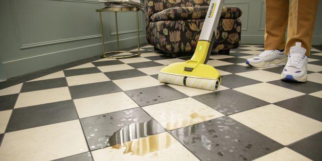 Уборка дома: электрошвабра Karcher
