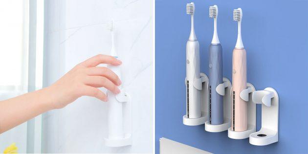 Недорогие товары для дома: держатель для электрической зубной щётки