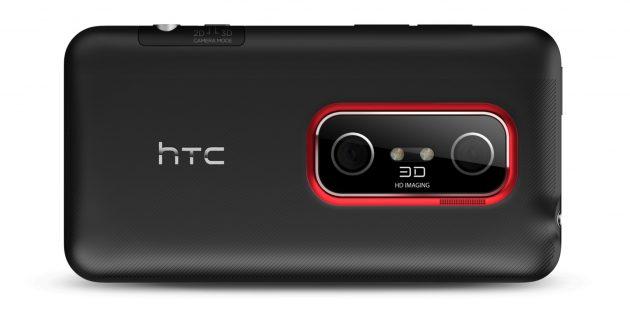 Две камеры у HTC Evo 3D
