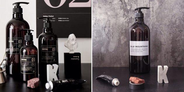 Многоразовые бутылки для ванной и кухни