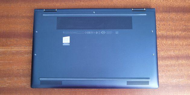 Ноутбук HP Elite Dragonfly: задняя крышка