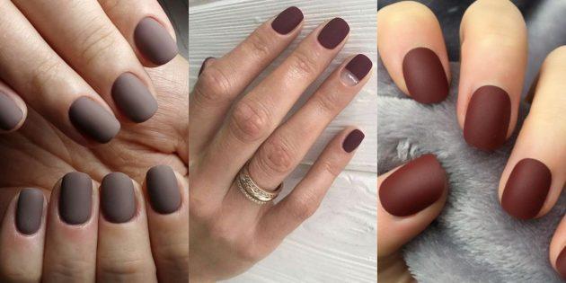 Красивый маникюр на короткие ногти: матовое покрытие