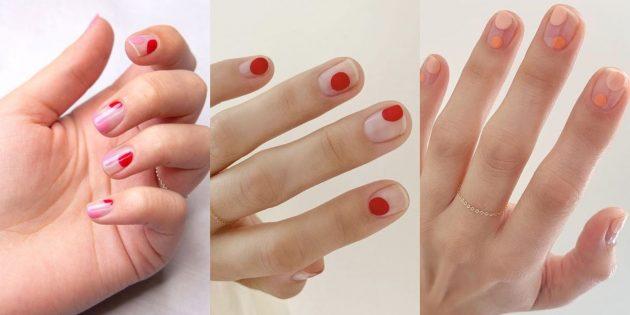 Идеи маникюра на короткие ногти: капли