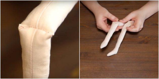 Как сшить куклу Тильду: обозначьте колени