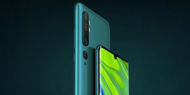 Цена дня: Xiaomi Mi Note 10 за 31 990 рублей в МТС