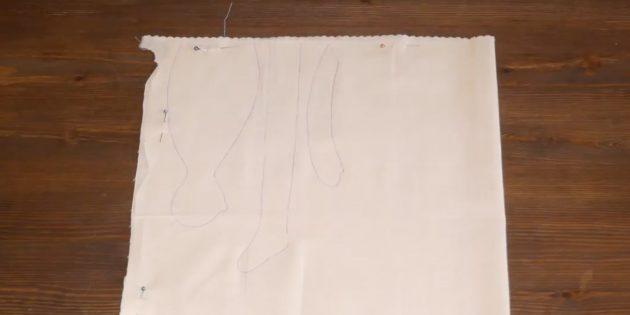 Как сшить куклу Тильду: обведите шаблоны на ткани