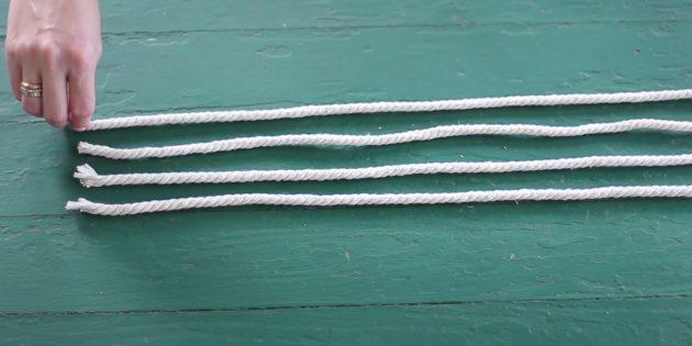 Как сделать лежанку для кота своими руками: разрежьте верёвку