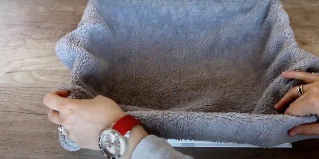 Как сделать лежанку для кошки своими руками: покройте коробку тканью