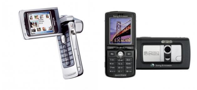 Nokia N90 и Sony Ericsson k750i