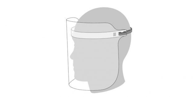 Apple представила маску-экран Face Shield для защиты от коронавируса