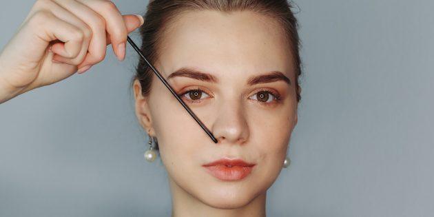 Идеальная форма бровей: определите конец брови